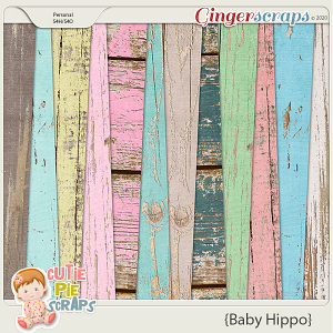 Baby Hippo Pastel Wood Papers