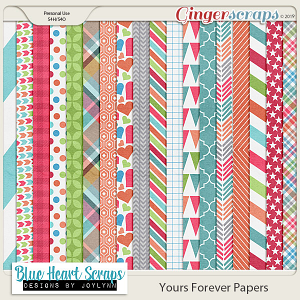 Yours Forever Patterned Papers