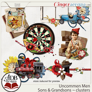 Uncommon Men - Sons & Grandsons Clusters by ADB Designs