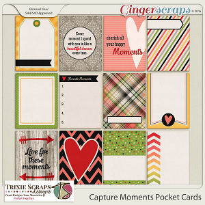 Capture Moments Pocket Cards by Trixie Scraps Designs
