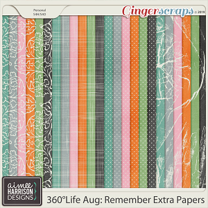 360°Life Aug: Remember Extra Papers by Aimee Harrison