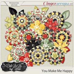 You Make Me Happy Layered Flowers