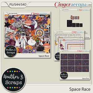 Space Race BUNDLE by Heather Z Scraps