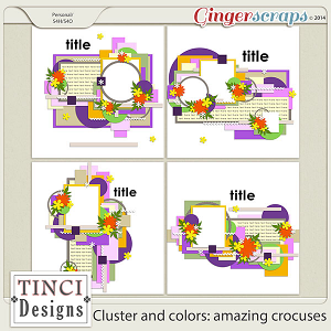 Cluster and colors: amazing crocuses