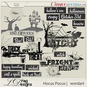 Hocus Pocus: Wordart by LDrag Designs