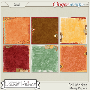 Fall Market - Messy Papers by Connie Prince