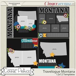 Travelogue Montana - 12x12 Temps (CU Ok) by Connie Prince