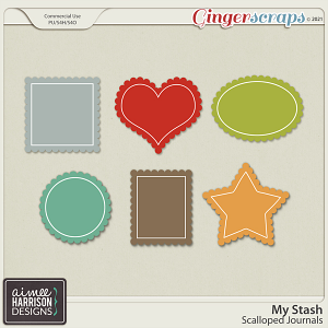 My Stash Scalloped Journal Templates by Aimee Harrison