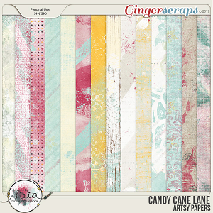 Candy Cane Lane - Artsy Papers - by Neia Scraps