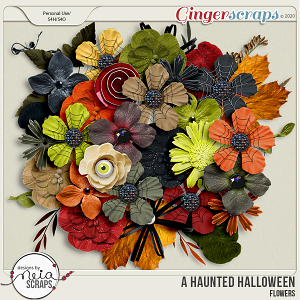 A Haunted Halloween - Flowers - by Neia Scraps