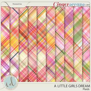 A Little Girls Dream Plaids by Ilonka's Designs