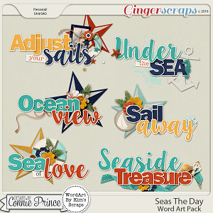 Seas The Day - WordArt Pack