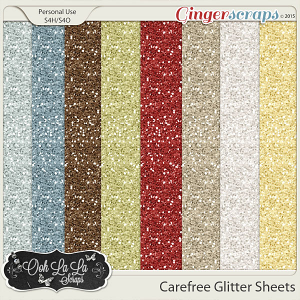 Carefree Glitter Sheets