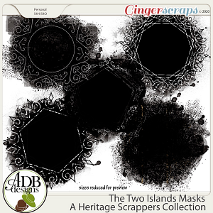 The Two Islands Masks by ADB Designs