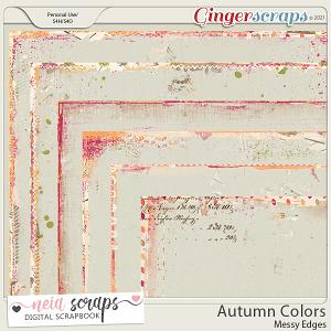 Autumn Colors - Messy Edges - by Neia Scraps