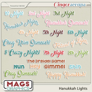 Hanukkah Lights TITLES by MagsGraphics