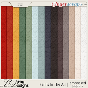 Fall Is In The Air: Embossed Papers by LDragDesigns