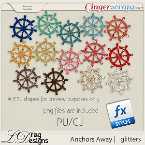 Anchors Away Glitterstyles by LDragDesigns