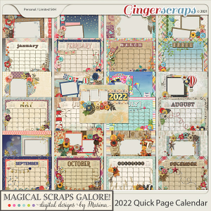 2022 Calendar Quick Pages (Generic Edition)
