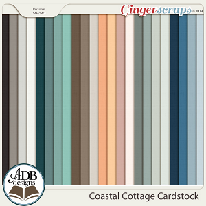 Coastal Cottage Solid Papers by ADB Designs