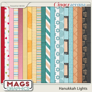 Hanukkah Lights PAPERS by MagsGraphics