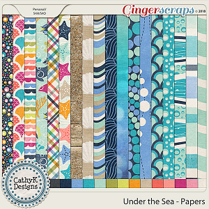 Under the Sea - Papers by CathyK Designs