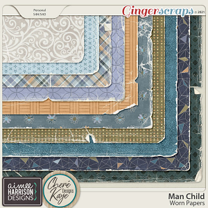Man Child Worn Papers by Aimee Harrison and Chere Kaye Designs