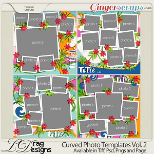 Curved Photo Templates Vol. 2 by LDrag Designs