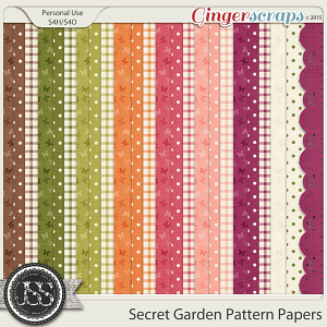 Secret Garden Pattern Papers