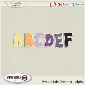 Sweet Little Dreamer - Alpha by Aprilisa Designs