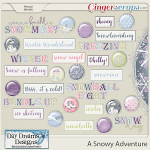 A Snowy Adventure {Flairs & Wordbits} by Day Dreams 'n Designs