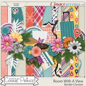Room With A View - Border Clusters by Connie Prince