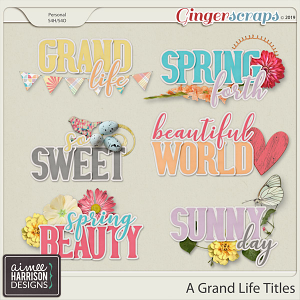 A Grand Life Titles by Aimee Harrison