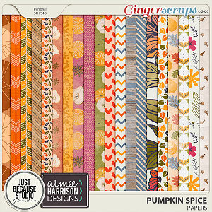 Pumpkin Spice Papers by JB Studio and Aimee Harrison Designs