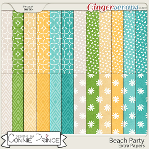 Beach Party - Extra Papers by Connie Prince