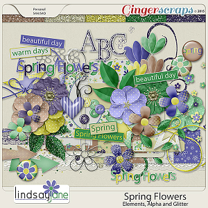 Spring Flowers Elements by Lindsay Jane