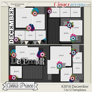 #2016 December - 12x12 Template Pack (CU Ok)