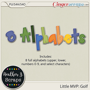 Little MVP: Golf ALPHABETS by Heather Z Scraps