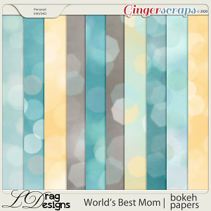 World's Best Mom: Bokeh Papers by LDragDesigns