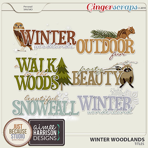 Winter Woodlands Titles by JB Studio & Aimee Harrison Designs
