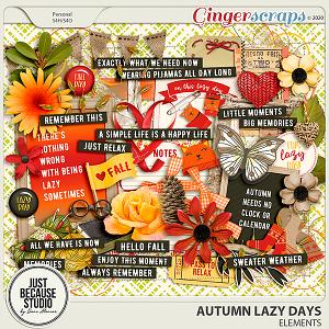 Autumn Lazy Days Elements by JB Studio
