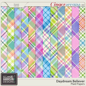 Daydream Believer Plaid Papers by Aimee Harrison