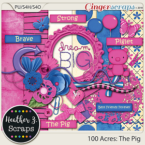 100 Acres THE PIG MINI KIT by Heather Z Scraps