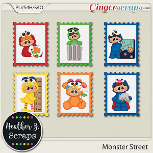 Monster Street STAMPS by Heather Z Scraps