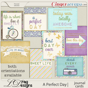 A Perfect Day: Journal Cards by LDrag Designs