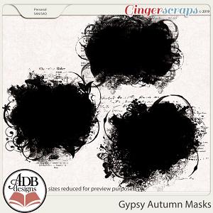 Gypsy Autumn Masks by ADB Designs
