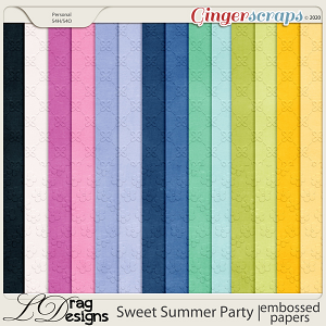 Sweet Summer Party: Embossed Papers by LDragDesigns