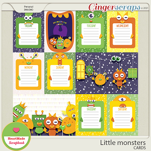 Little monsters - cards