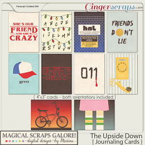 The Upside Down (journaling cards)
