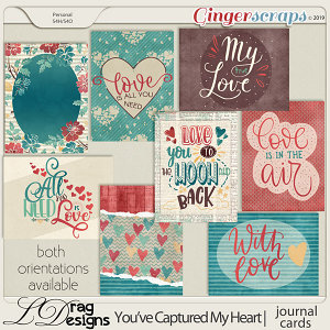 You've Captured My Heart: Journal Cards by LDragDesigns